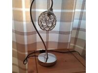 Modern Chrome Clear Acrylic Crystal Table Lamp Light Lamps NEW