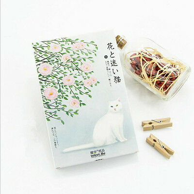 """Japanese Cat"" 30 Pcs Mixed Postcards Set Postcard Lot Box Beautiful Bookmark"