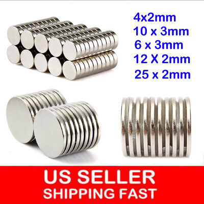 1050100pcs Super Strong Round Disc Magnets Rare-earth Neodymium Magnet Usstock