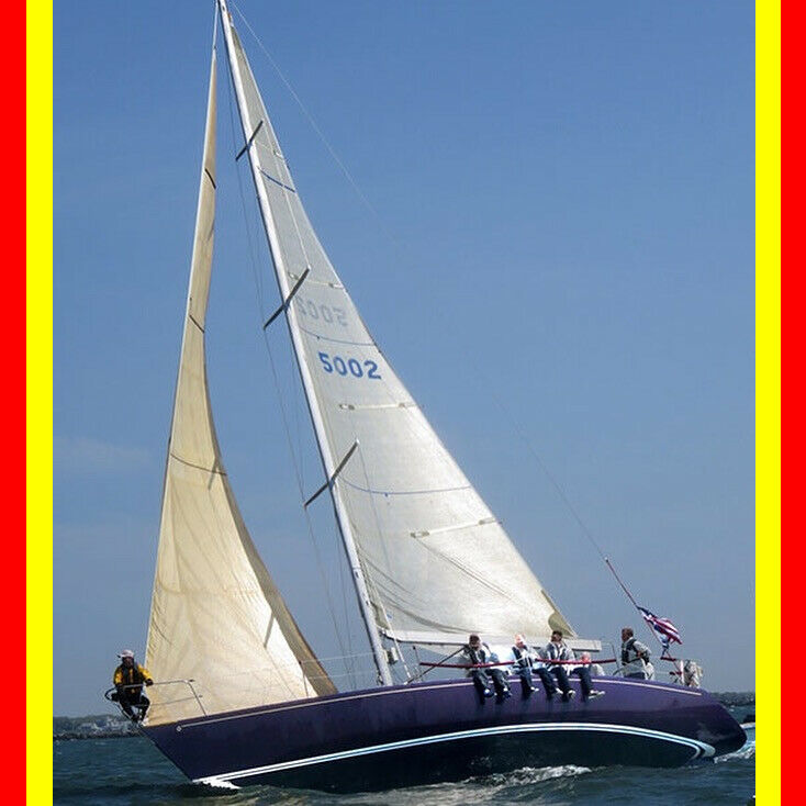 NO RESERVE Stars & Stripes Nelson Marek 40' sailboat Carbon sails Rod rigging