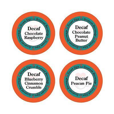 Decaf Flavored Coffee Variety Pack for Keurig K-cup Machines, (Decaffeinated K-cups)