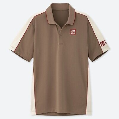Uniqlo Official Size Medium Roger Federer Tennis Polo Shirt BNWT French Open New