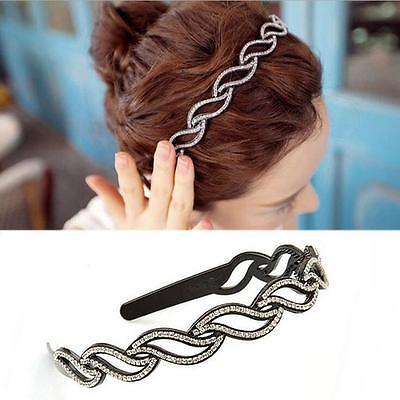 Fashion Women Metal Rhinestone Head Chain Jewelry Headband Head Piece Hair Band