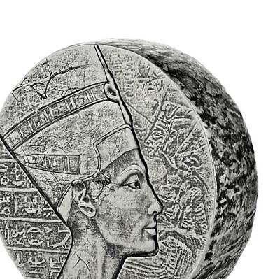 2017 5 oz Egyptian Nefertiti Silver Coin .999 Silver BU #A439