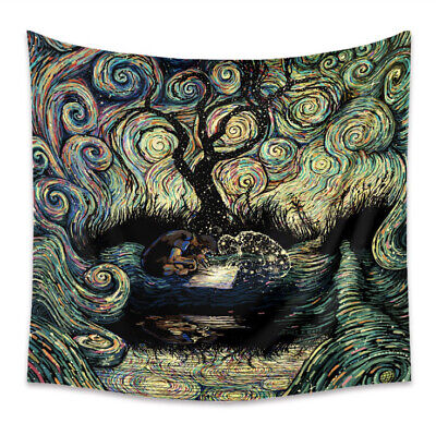 """Tapestry """"Trippy Man - Tree Of Life"""" (Queen Bed Width) 60"""" x 51"""""""