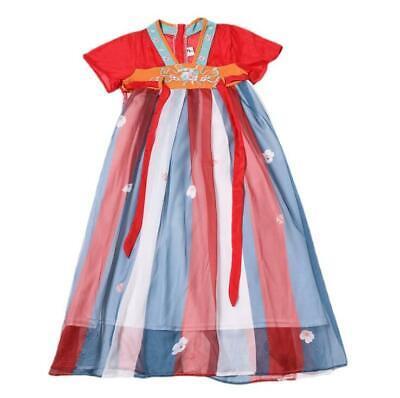 Girl chinese style hanfu summer little fairy child retro dress