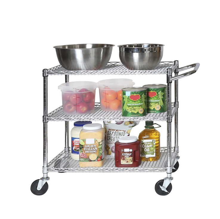 Seville Classics 3-Tier Commercial-Grade NSF Listed Service Utility Cart Home & Garden