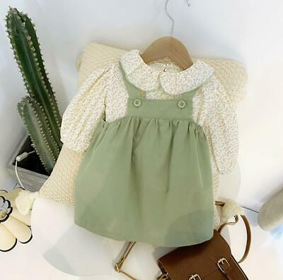 Girls' dress floral skirt two-piece suit pure cotton princess dress