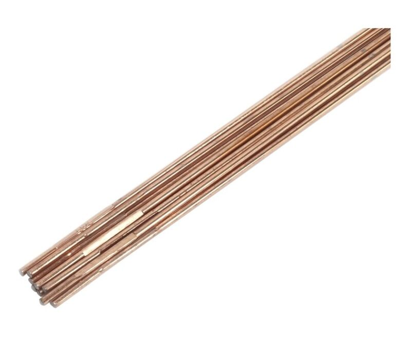 "Forney 42326 Oxy-Acetylene Brazing Rod, Copper Coated, 18"" L"