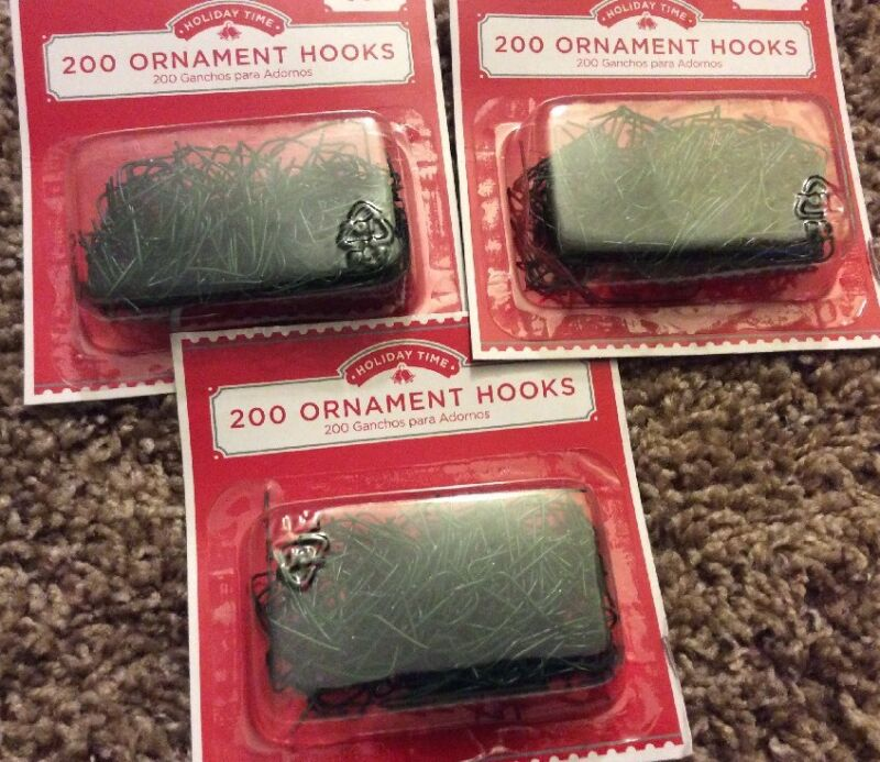 """Lot of 600  1"""" Ornament Hooks Christmas Tree Decoration Wire Hangers - Green"""