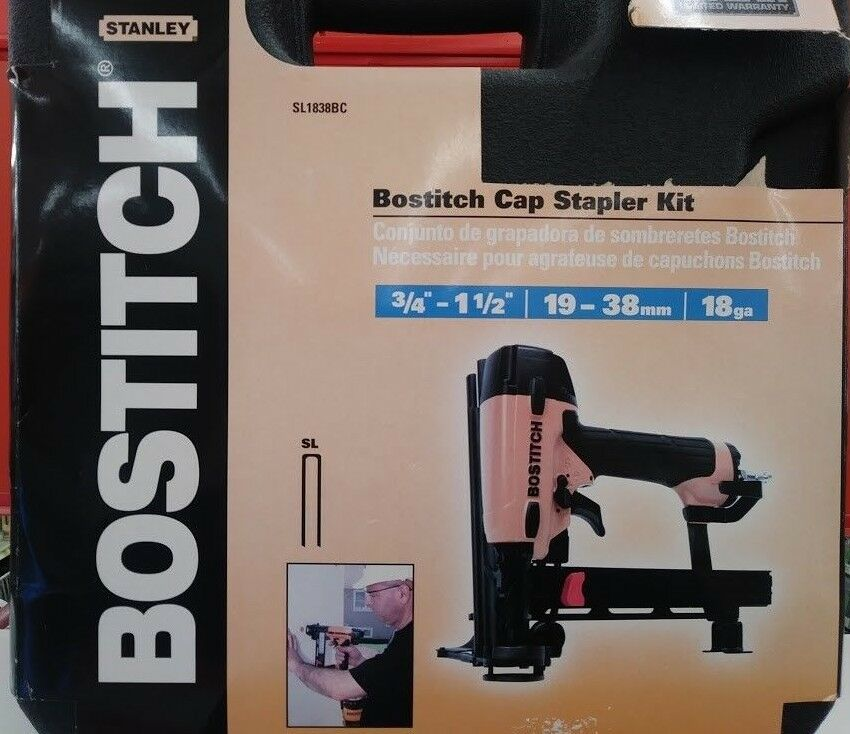 Bostitch SL1838BC 18-Gauge 5/16 in. Crown 1-1/2 in. Cap Stap
