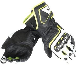 Guantes-Dainese-Carbon-D1-Long-Negro-Blanco-Fluor-talla-M