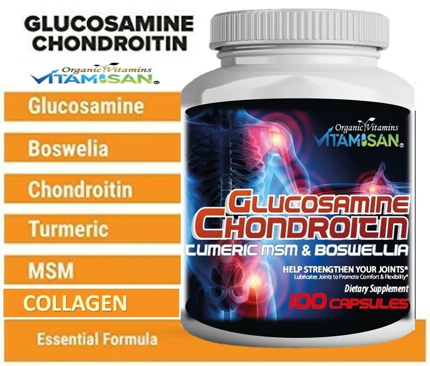 Organic Supplements Joint Support Turmeric Glucosamine Anti Inflammatory MobilIL 6