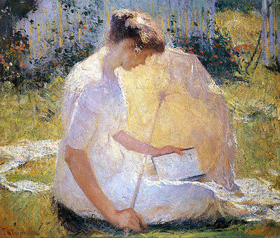 The Reader  by Frank W Benson  Paper Print Repro