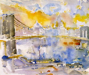 Brooklyn Bridge  John Marin  Giclee Canvas Print Repro