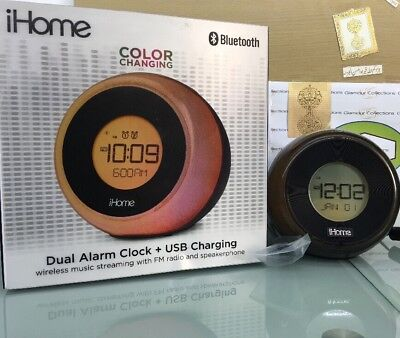 iHome Color Changing Dual Alarm Clock And USB Charging