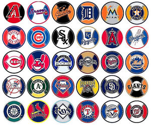 MLB Decal Stickers Baseball Team Logos Complete Set of All 30 Teams