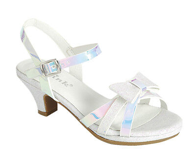 New girl buckle closure dress shoes open toe special occasion formal White (White Girls Dress Shoes)
