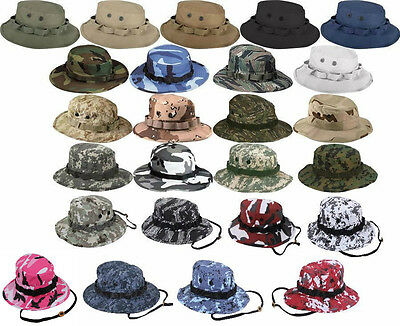 c836781876b0e Boonie Hat Wide Brim Military Camo Hunting Camping Bucket Cap Rothco