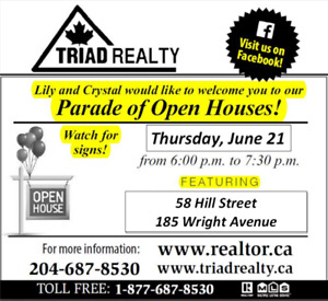 Parade of Open Houses June 21, 2018!