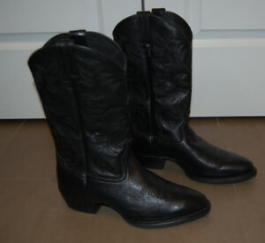 Ariat Black Leather Cowboy Western Boots Men Size 11 EE