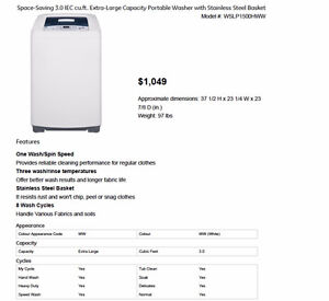 GE PORTABLE WASHER - $600 - Mint condition