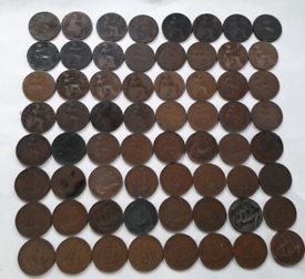 HALF PENNIES RANGING FROM 1864 - 1967 for sale  Thornaby, County Durham