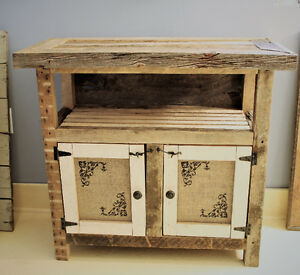 RUSTIC CABINET, HANDCRAFTED FROM SALVAGED CENTURY LUMBER