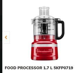 Kitchenaid food processor 1.7l litre