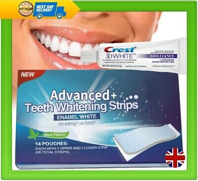 28 TEETH WHITENING STRIPS PROFESSIONAL + 3D WHITENING TOOTHPASTE