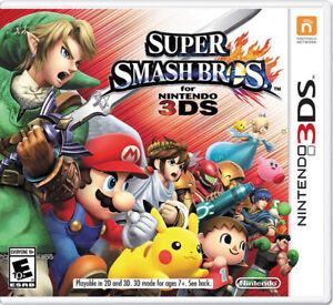 super smash bros for 3DS game