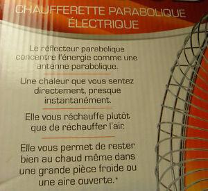 PRESQUE PAS UTILISÉE :  chaufferette parabolique électrique