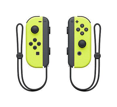 Genuine Nintendo Switch - Joy-Con (L/R) Controllers - Neon Yellow - VG