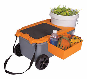 Fiskars Sit & Store Garden Caddy & Seat - Used West Island Greater Montréal image 4