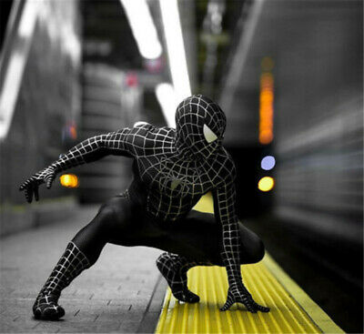 Black Venom Spider-Man Cosplay Costume Muscle  Kid Adult Zentai Suit Halloween - Muscle Man Suit Costume