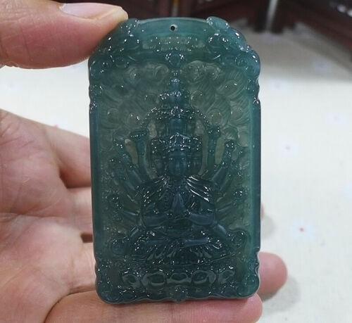 Masterpiece Natural A Icy Jadeite Jade Thousand Hand Guanyin Pendant 9973普渡衆生