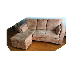 Fabric sectional sofa in good condition