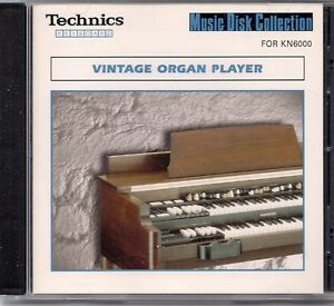 Music Disc for Technics KN 6000 Keyboard. Vintage organ player.