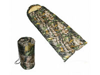 Camo Sleeping Bag with cover - NEW
