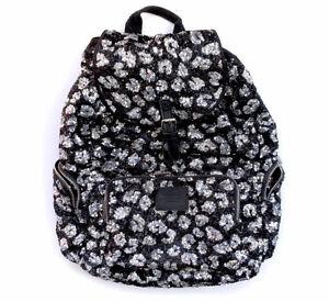 PINK Victoria's Secret Sequin Leopard Animal Print Backpack Bag