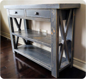 NEW DISTRESSED WOOD ENTRY/SOFA/CONSOLE/KITCHEN ISLAND TABLE