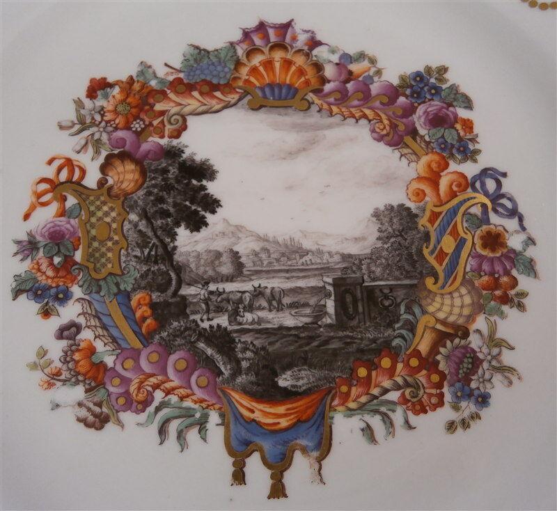 Rare 18thC Meissen Porcelain Metzsch Bayreuth Scenic Plate Porzellan Teller