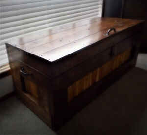New Custom made Rustic Walnut finished Cedar lined Blanket Chest