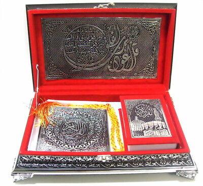Koran Truhe Rot+Quran Arabisch+Gebetskette (Tesbih)+CD *Islam Muslim Hijab Abaya