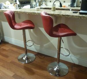 TWO BARSTOOLS - vinyl covering