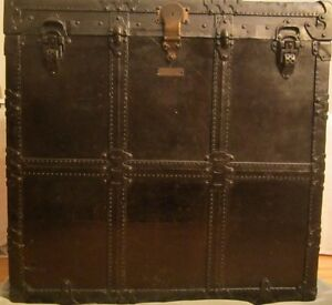 Malle de voyage ANTIQUE travel chest Lamontagne Montreal 1900-20