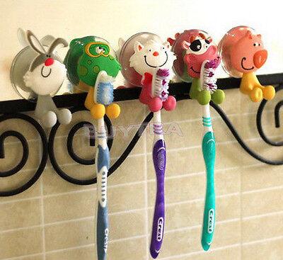 5 Cute Tier Silikon Zahnbürstenhalter Home Set Wand Badezimmer Hanger-SuctionYE