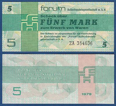 DDR 5 Mark Forum ERSATZNOTE ZA KASSENFRISCH  Ro.369 b