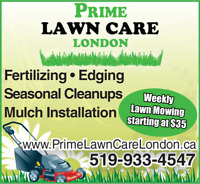 Prime Lawn Care London/Weekly Lawn Mowing/High Quality Services!