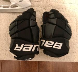 Bauer junior hockey gloves